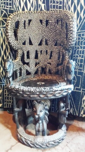 Wood + Pearl Throne bamileke
