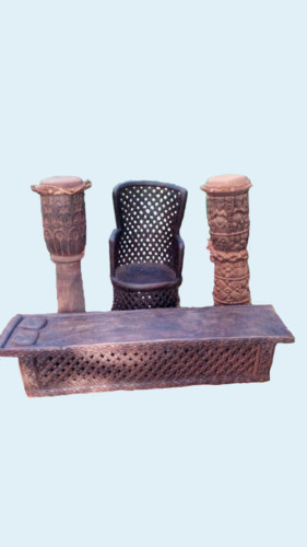 Wood Throne Set
